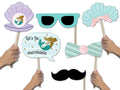"""Little Mermaid""-Girls Birthday Party Photo Booth Props Kit(Pack Of 20)"