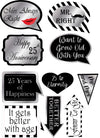 25Th Anniversary - 10 Piece Anniversary Party Photo Booth Props Kit