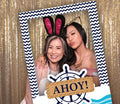 Nautical-Ahoy Party Selfie Photo Booth Picture Frame and Props - Printed on Sturdy Material