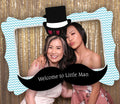 Little Man Party Selfie Photo Booth Picture Frame and Props - Printed on Sturdy Material