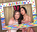 Joyful Party Selfie Photo Booth Picture Frame and Props - Printed on Sturdy Material
