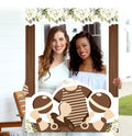 """Oh Baby"" - Baby Shower Party Selfie Photo Booth Picture Frame and Props - Printed on Sturdy Material"