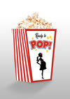 Ready To Pop Theme Popcorn Box - Baby Welcome - Pack of 10