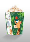 Wild Safari Theme Popcorn Box - Birthday /Baby Welcome - Pack of 10