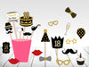 18th Milestone - 20 Piece Birthday Party Photo Booth Props Kit
