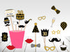 80th Milestone - 20 Piece Birthday Party Photo Booth Props Kit