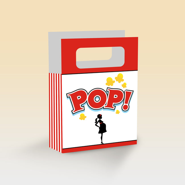 Ready To Pop Theme based Favor Box/Return Gift Bag - Pack of 6