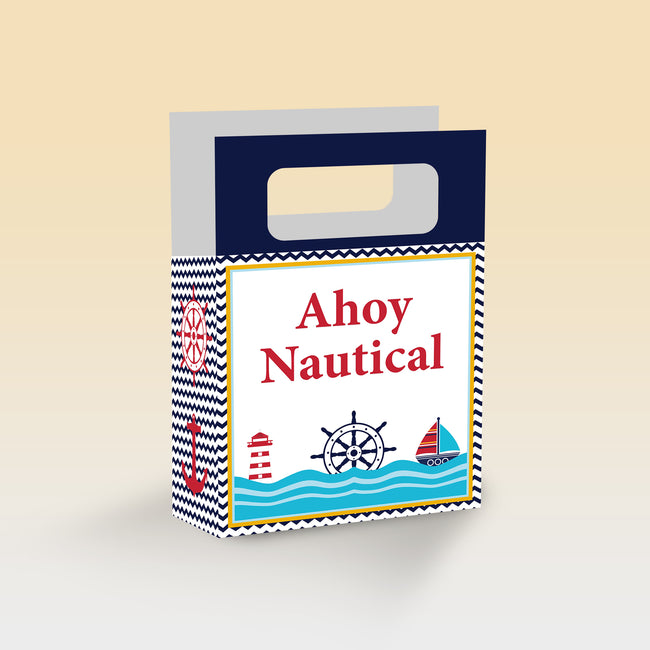Nautical-Ahoy Theme based Favor Box/Return Gift Bag - Pack of 6