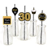 30th Milestone Straw Set -Birthday Decoration - Set of 25