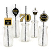 70th Milestone Straw Set -Birthday Decoration - Set of 25