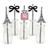 """Oh La La - It's Paris"" Straw Set -Birthday Decoration- Set of 25"