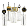 50th Milestone Straw Set -Birthday Decoration - Set of 25
