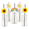 Sunshine Theme straw Set -Birthday Decoration/ Baby Welcome - Set of 25