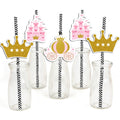 """CROWN PRINCESS""- GIRLS STRAW SET BIRTHDAY DECORATION"