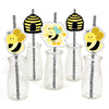 """What Will It Bee"" Straw Set Baby Shower - Set of 25"