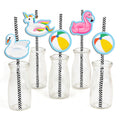 Splish Splash Pool Party Straw Set -Birthday Decoration or Baby Welcome - Set of 24