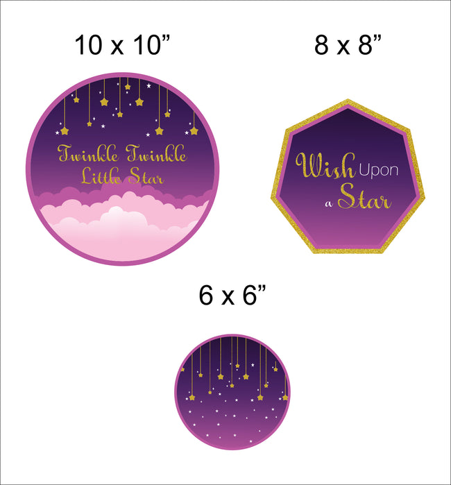 """TWINKLE TWINKLE LITTLE STAR""-GIRLS BIRTHDAY DECORATION TABLE TOP(PACK OF 18)"