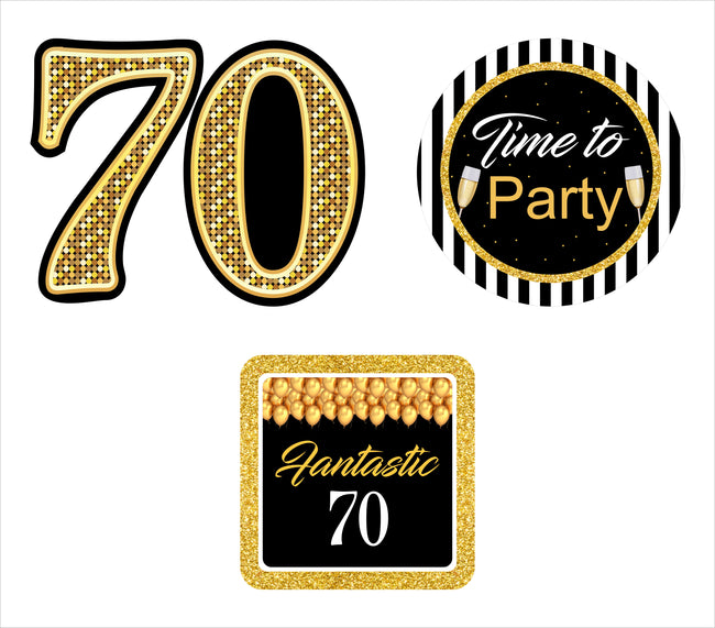 70th Milestone Table Top For Birthday Decoration