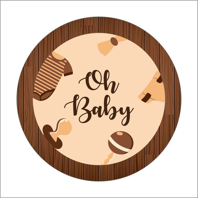 """Oh Baby"" Theme Baby Shower Favor Gift Tags - Pack of 24"