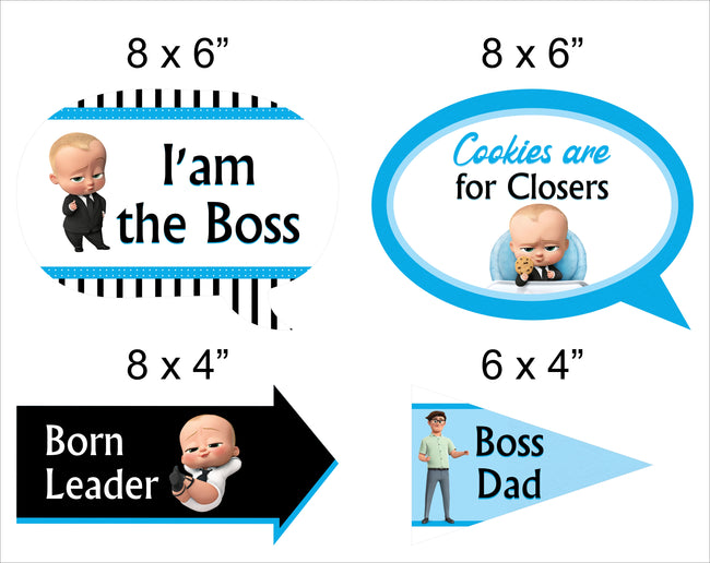 Boss Baby  - 10 Piece Birthday Party Photo Booth Props Kit