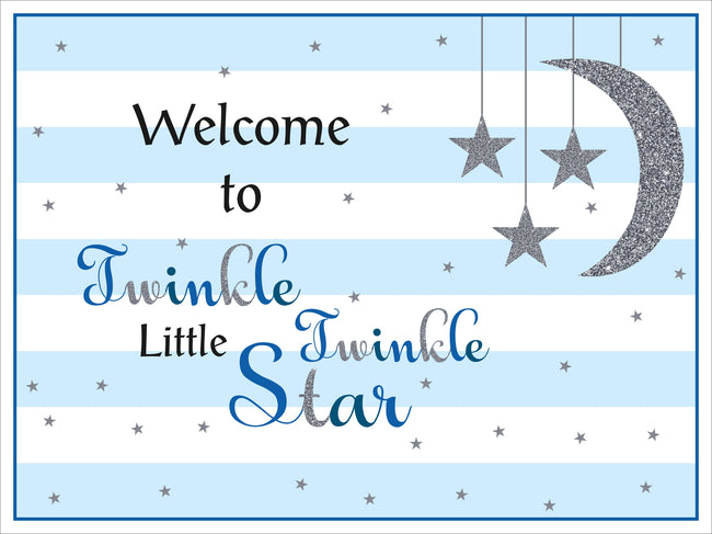 """Twinkle Twinkle Little Star"" - Boy   Welcome Lawn Sign - Birthday Party  - 1 Piece"
