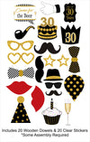 30th Milestone - 20 Piece Birthday Party Photo Booth Props Kit