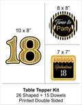 18th Milestone Table Top For Birthday Decoration