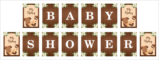 """Oh Baby"" Theme  Baby Shower Banner for baby shower decoration"