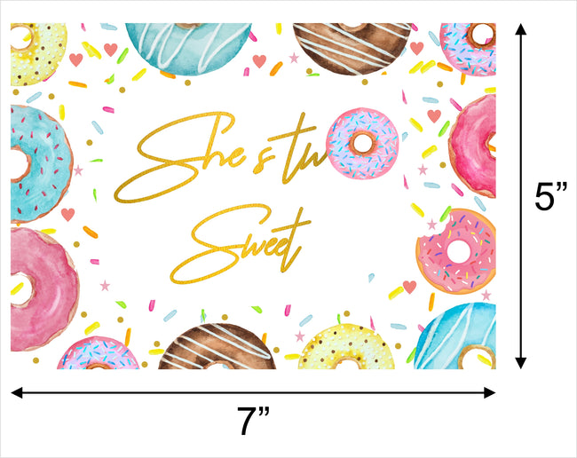 """Two Sweet""  BIRTHDAY PARTY BACKDROP FOR PHOTOGRAPHY BANNER KIDS EVENT CAKE TABLE DECOR HOME DECORATION PHOTO BOOTH BACKGROUND"