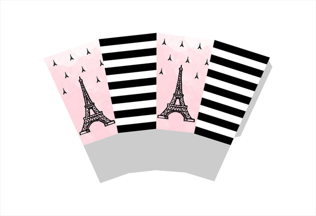"""Oh La La - It's Paris"" Theme Popcorn Box - Birthday Decoration- Pack of 10"