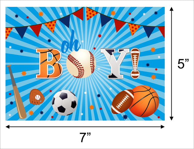 """ONLY SPORTS"" BIRTHDAY PARTY BACKDROP FOR PHOTOGRAPHY BANNER KIDS EVENT CAKE TABLE DECOR HOME DECORATION PHOTO BOOTH BACKGROUND"