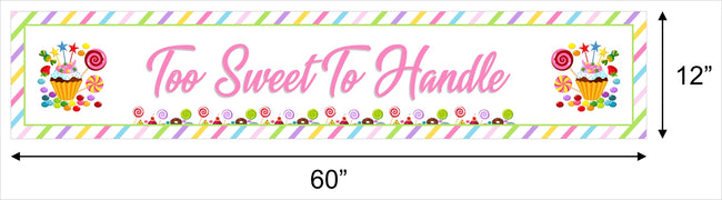 Candy Land Banner for Wall Decoration, Cake Area, Entrance - Perfect for baby shower