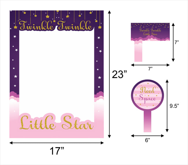 """TWINKLE TWINKLE LITTLE STAR ""- GIRLS PARTY PHOTO BOOTH FRAME AND PROPS"