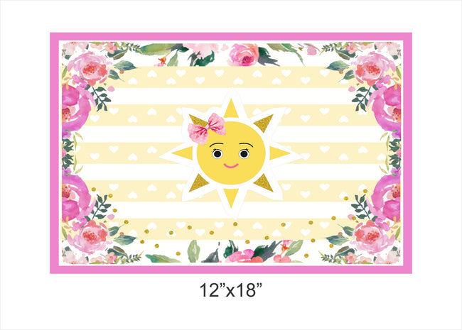 Sunshine Theme Table Placemats for birthday/ baby welcome theme parties - Pack of 6