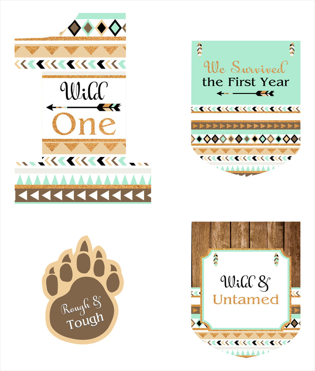 """Wild One "" Theme Hanging Set for decoration - Set of 12"