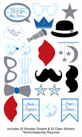 """Twinkle Twinkle Little Star"" - Boy   20 Piece Birthday Party Photo Booth Props Kit"