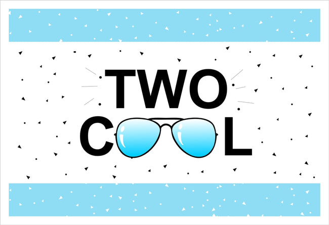 """Two Cool"" Table Placemats for Birthday/ Baby Shower - Pack of 6"