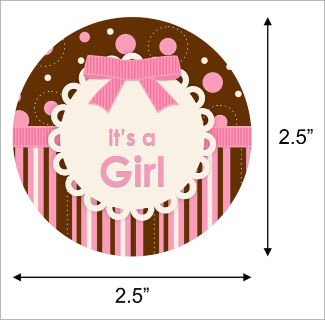 """Baby Girl  Cute Teddy ""- Party Favor Gift Tags (pack of 20)"
