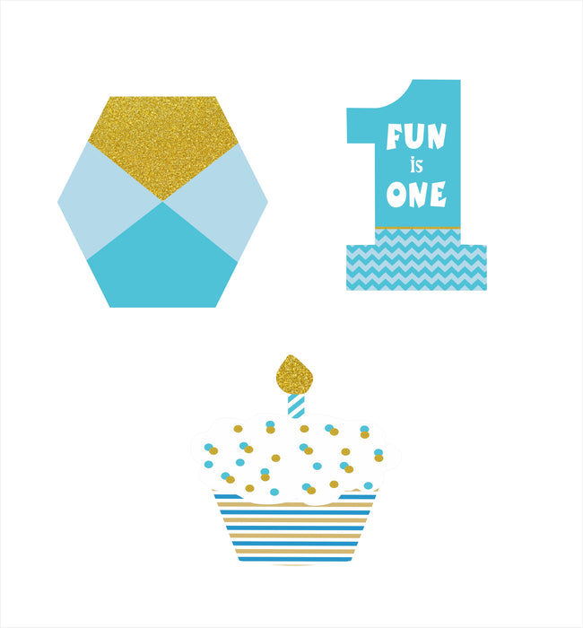 """ONE IS FUN"" -  Straw Set -Birthday Decoration- Set of 25"
