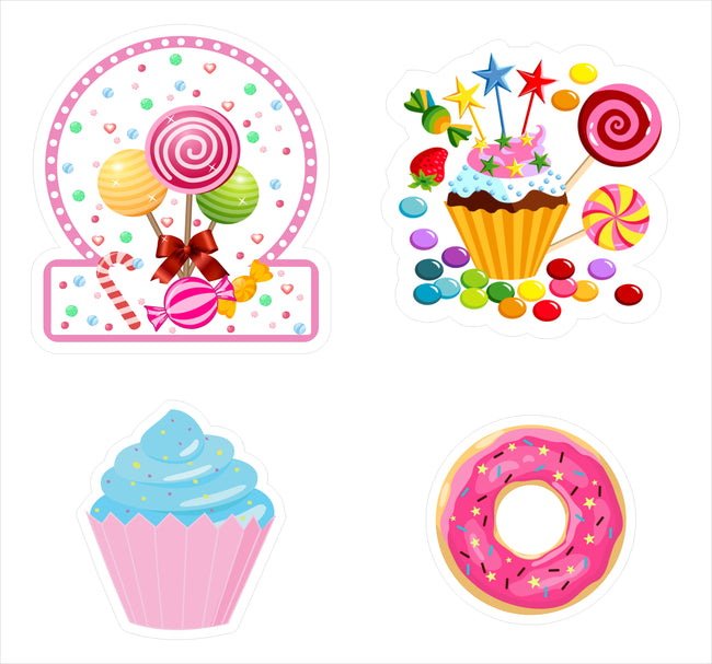 Candy Land Theme Hanging Set For Decoration - Set Of 12