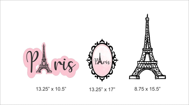 """Oh La La -Its Paris "" Cut Out Pack for birthday decoration - Pack of 5"