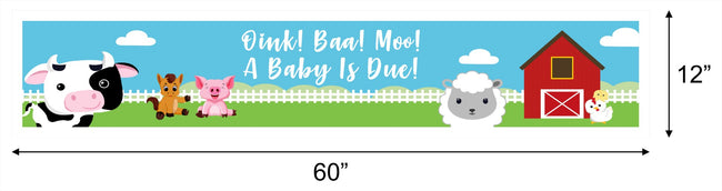 Barnyard Theme Birthday Banner for Wall Decoration, Cake Area, Entrance - Perfect for birthday