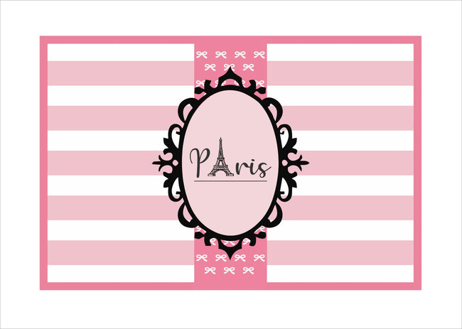 """Oh La La - It's Paris"" Table Placemats Girls  Theme Parties - Pack of 6"