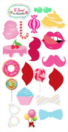 Candy Land Theme - 20 Piece Birthday Party Photo Booth Props Kit