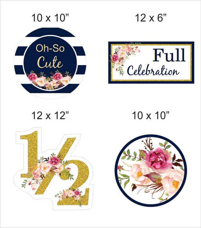 """Half Birthday""  Cutout  Pack for Birthday decoration - Pack of 5"