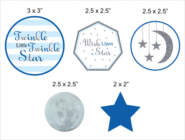 """Twinkle Twinkle Little Star"" - Boy  Theme Cake Topper for Birthday Party"