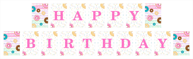 """Two Sweet"" - GIRLS 2ND BIRTHDAY BANNER DECORATION"