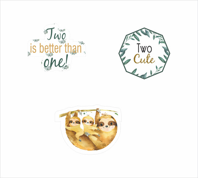 It's Twin - Cup Cake Topper Welcome Baby  - Pack of 12