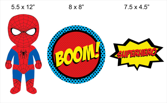 """Super Hero"" Table Top For Birthday Decoration"