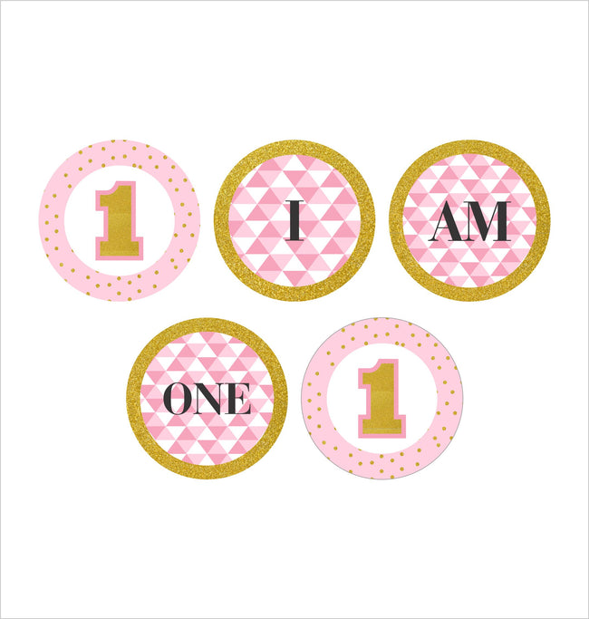 """ONE IS FUN ""- GIRLS ""I AM ONE"" BANNER FOR 1ST BIRTHDAY DECORATION"